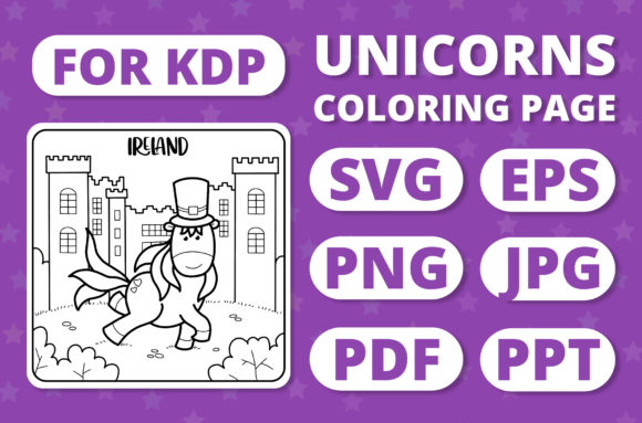 Print on Demand: Traveling Unicorns - Coloring Page #26 Graphic Coloring Pages & Books Kids By RefreshUp