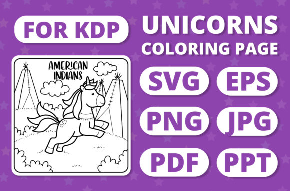 Print on Demand: Traveling Unicorns - Coloring Page #28 Graphic Coloring Pages & Books Kids By RefreshUp