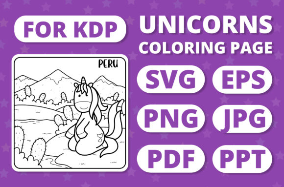Print on Demand: Traveling Unicorns - Coloring Page #30 Graphic Coloring Pages & Books Kids By RefreshUp