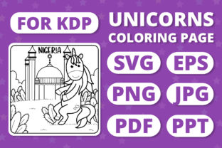 Print on Demand: Traveling Unicorns - Coloring Page #6 Graphic Coloring Pages & Books Kids By RefreshUp