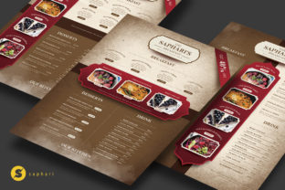 Vintage Restaurant Menu Graphic Print Templates By Saphari