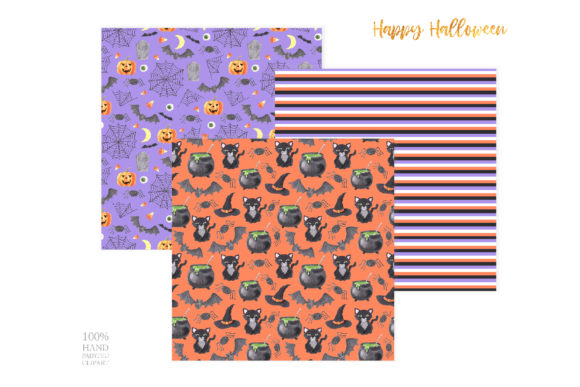 Watercolor Spooky Halloween Clipart Graphic Design Item