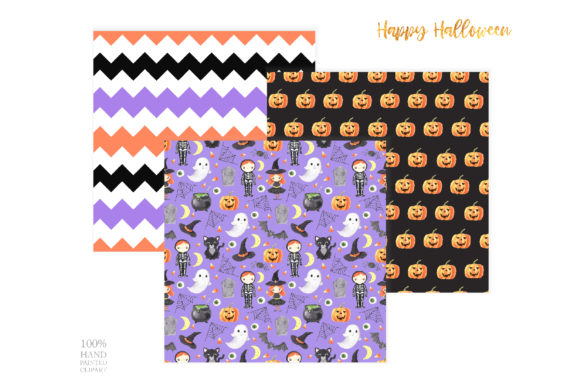 Watercolor Spooky Halloween Clipart Graphic Downloadable Digital File