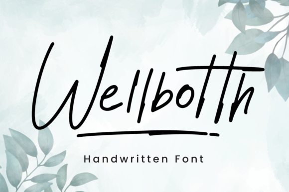 Print on Demand: Wellbotth Script & Handwritten Font By attypestudio