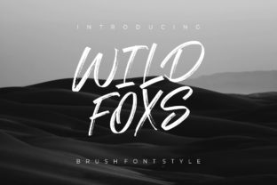 Print on Demand: Wild Foxs Display Font By yunitaecy