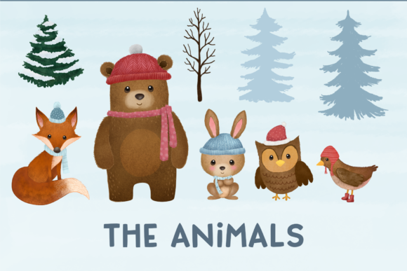 Print on Demand: Winter Woodlands Clipart Graphic Illustrations By vivera