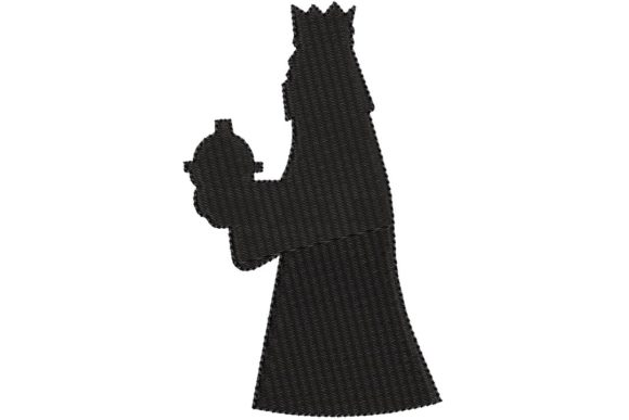 Wise King 2 Silhouette Christmas Embroidery Design By BabyNucci Embroidery Designs