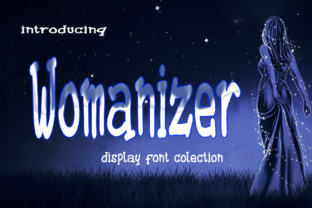 Print on Demand: Womanizer Display Font By kateengletter