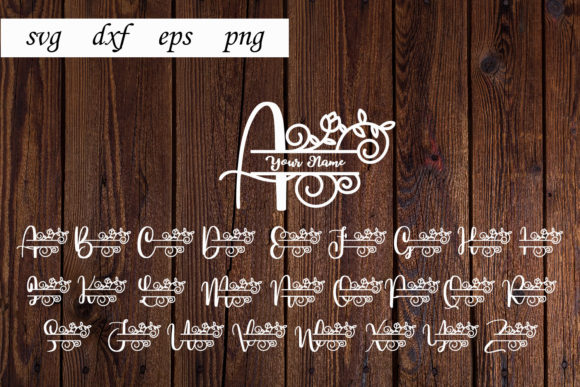 Print on Demand: Alphabet Split Monogram Graphic Print Templates By dadan_pm