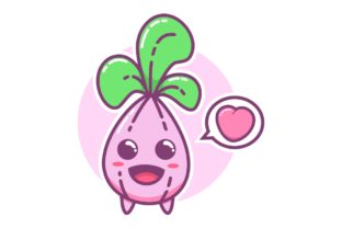 Cute Purple Shallot Onion Cartoon Doodle Graphic Illustrations By Ardwork