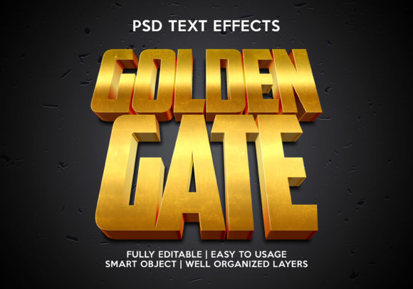 Golden Gate Text Effect Graphic Layer Styles By gilangkenter