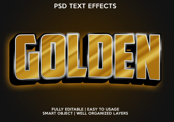 Golden Text Effect Graphic Layer Styles By gilangkenter