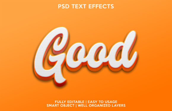 Good Text Effect Graphic