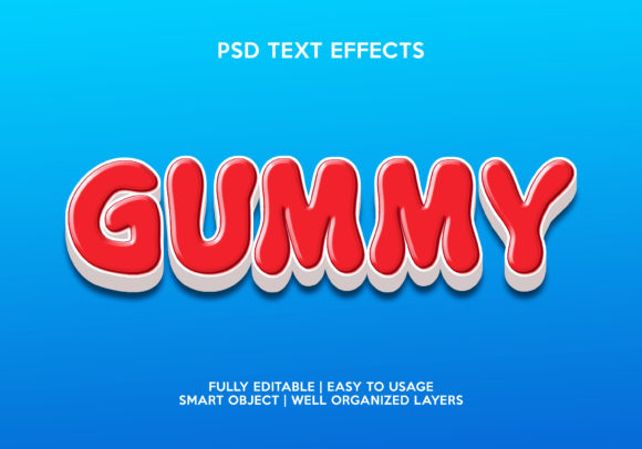 Gummy Text Effect Graphic Layer Styles By gilangkenter