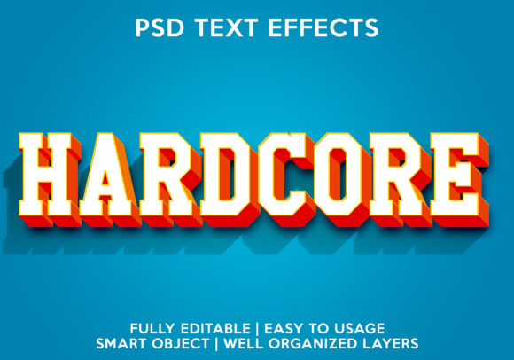 Hardcore Text Effect Graphic Layer Styles By gilangkenter