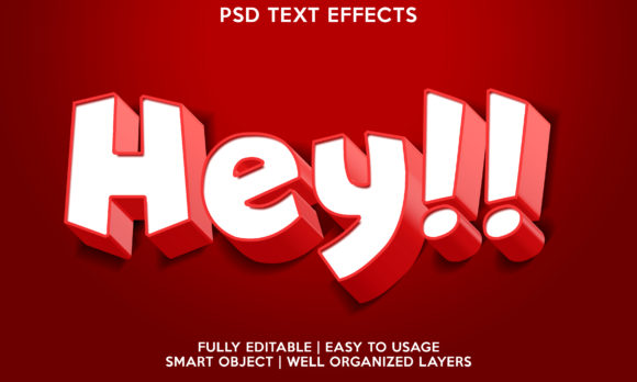 Hey Text Effect Graphic Layer Styles By gilangkenter