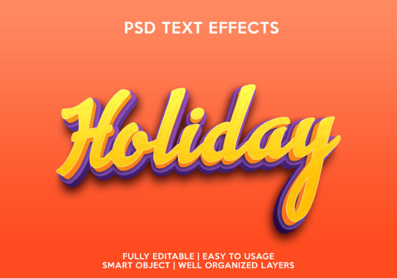 Holiday Text Effect Graphic Layer Styles By gilangkenter