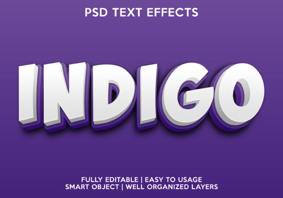 Indigo Text Effect Graphic Layer Styles By gilangkenter