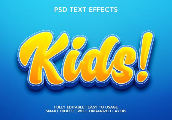 Kids Text Effect Graphic Layer Styles By gilangkenter