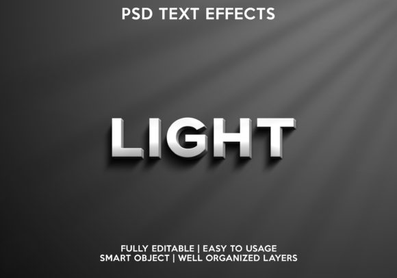 Light Text Effect Graphic Layer Styles By gilangkenter