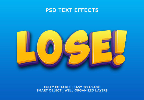 Losse Text Effect Graphic Layer Styles By gilangkenter