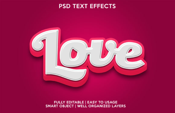 Love Text Effect Graphic Layer Styles By gilangkenter