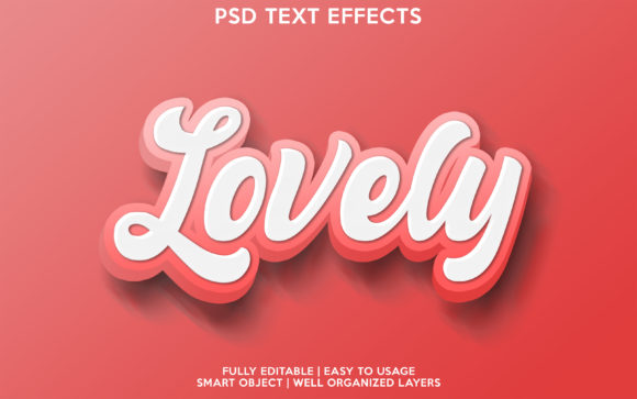 Lovely Text Effect Graphic Layer Styles By gilangkenter