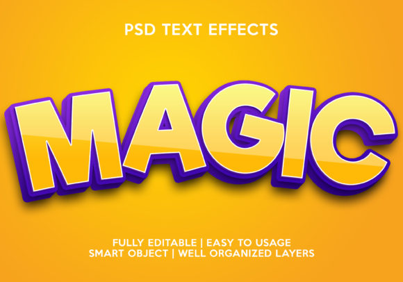 Magic Text Effect Graphic Layer Styles By gilangkenter