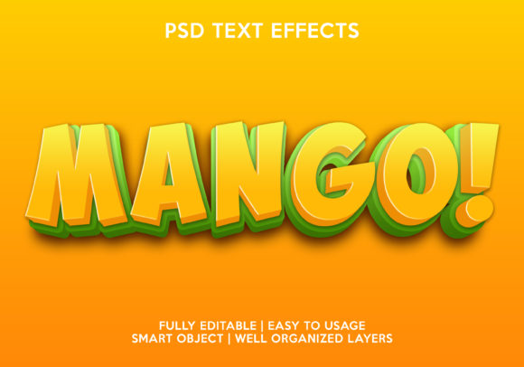 Mango Text Effect Graphic Layer Styles By gilangkenter