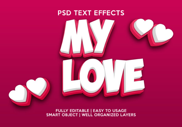 My Love Text Effect Graphic Layer Styles By gilangkenter