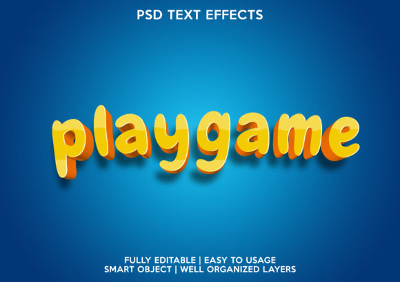 Play Game Text Effect Graphic Layer Styles By gilangkenter
