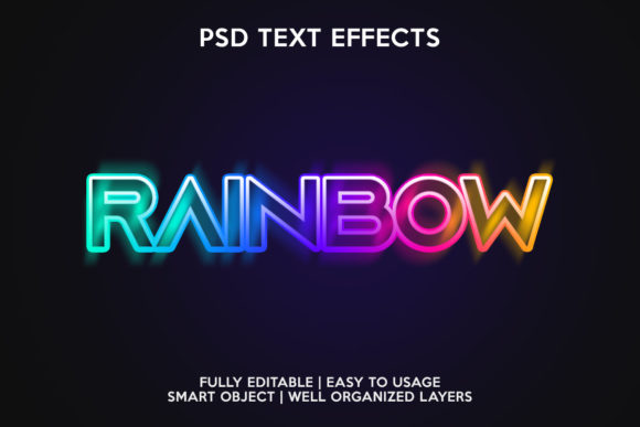 Rainbow Text Effect Graphic Layer Styles By gilangkenter