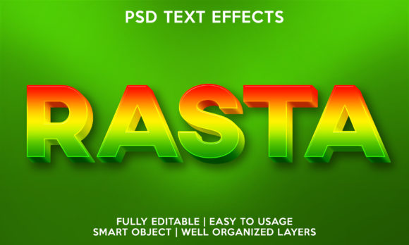 Rasta Text Effect Graphic Layer Styles By gilangkenter