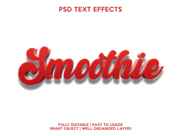 Smoothie Text Effect Graphic Layer Styles By gilangkenter