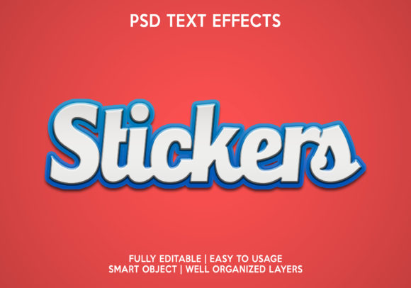 Stickers Text Effect Graphic Layer Styles By gilangkenter