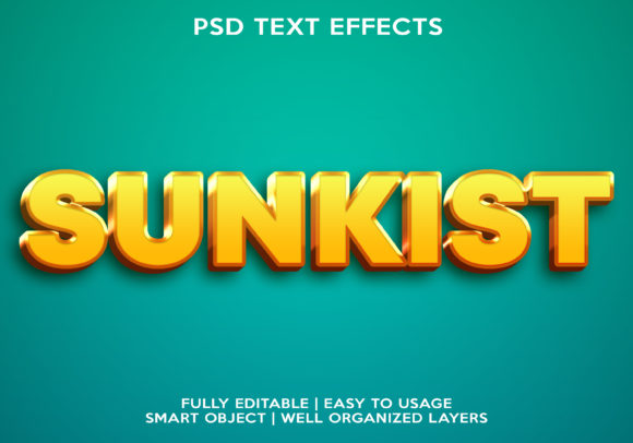 Sunkist Text Effect Graphic Layer Styles By gilangkenter