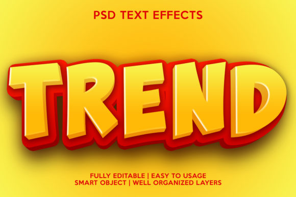 Trend Text Effect Graphic Layer Styles By gilangkenter