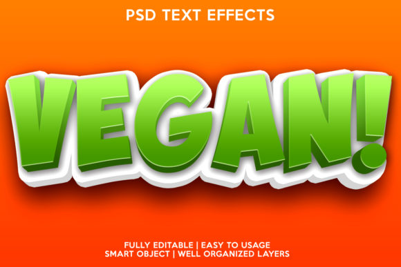 Vegan Text Effect Graphic Layer Styles By gilangkenter