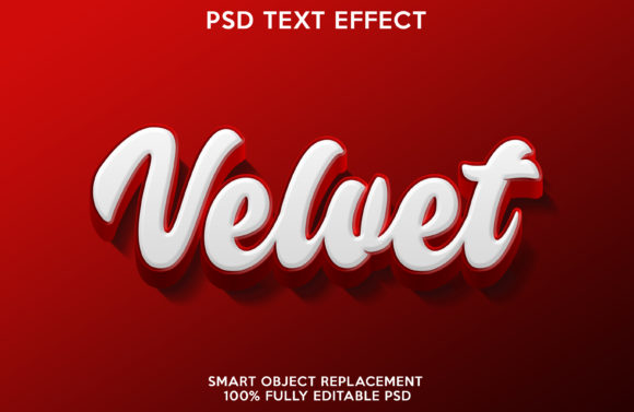Velvet Text Effect Graphic Layer Styles By gilangkenter