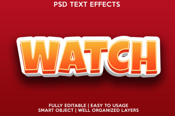 Watch Text Effect Graphic Layer Styles By gilangkenter