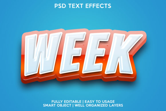 Week Text Effect Graphic Layer Styles By gilangkenter