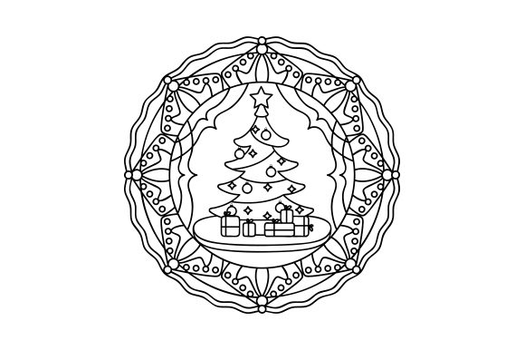 Christmas Tree Mandalas Craft Cut File By Creative Fabrica Crafts