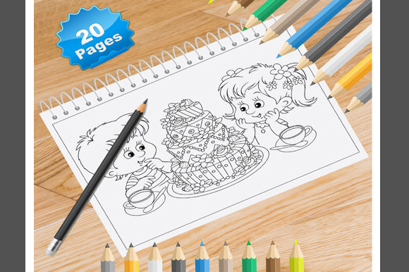 Print on Demand: 20 Birthday Coloring Pages for Kids Graphic Coloring Pages & Books Kids By Coloring World
