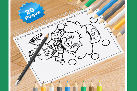 Print on Demand: 20 Happy Kids Coloring Pages Graphic Coloring Pages & Books Kids By Coloring World