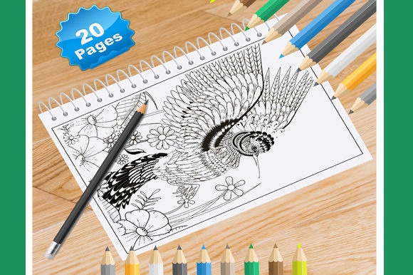 Print on Demand: 20 Hummingbird Coloring Pages for Adults Graphic Coloring Pages & Books Adults By Coloring World