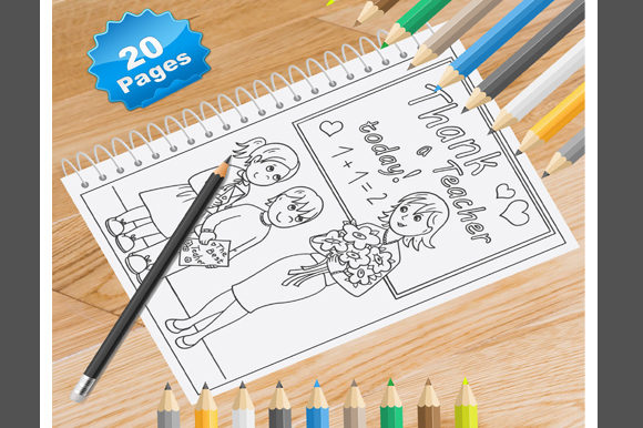 Print on Demand: 20 Teacher Coloring Pages for Kids Graphic Coloring Pages & Books Kids By Coloring World