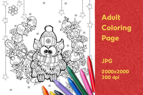 Print on Demand: Adult Coloring Page Graphic Coloring Pages & Books Adults By YAZZIK