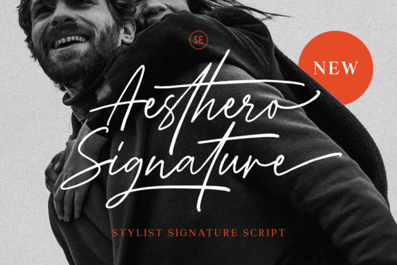 Print on Demand: Aesthero Script & Handwritten Font By saridezra