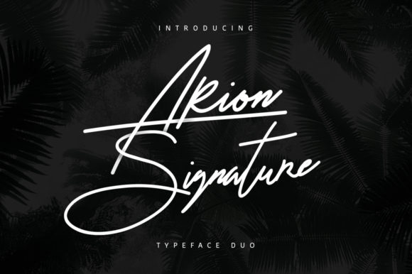 Print on Demand: Arion Signature Script & Handwritten Font By Maulana Creative
