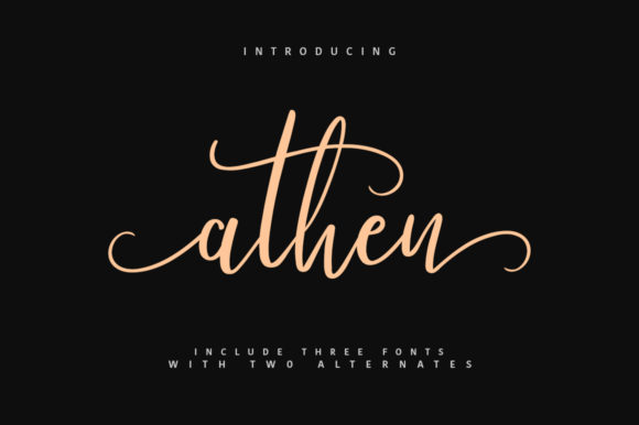 Print on Demand: Athen Script & Handwritten Font By Maulana Creative